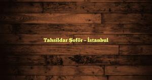 Tahsildar Şoför – İstanbul